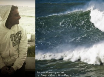 Antonio Silva at Nazare.