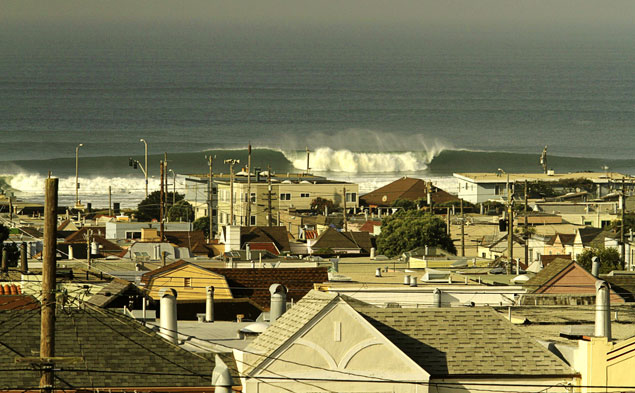 Those familiar with Ocean Beach know it can get heavy. Mike Parsons knows this all too well. Photo: Paul Ferraris