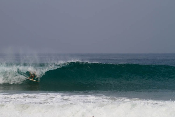 Sean Brody gets what he came to Liberia for. Photo: Fanzi