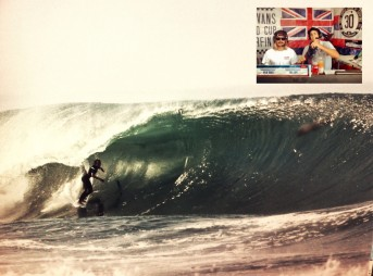 "From the barrel to the box: ""I sure don't get that pitted with a headset on..."" Photos: Wave: Tupat / Box: TWC"