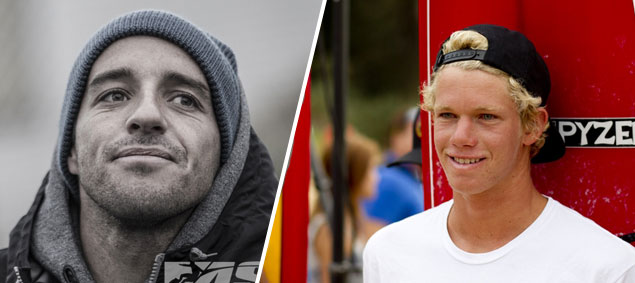 John John Florence and Tiago Pires. Just two of the ASP World Tour competitors battling injuries this year. Photo: ASP