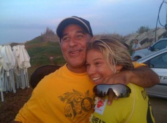 Coco Ho and her dad, Michael, her greatest mentor. Photo: Courtesy Ho Family