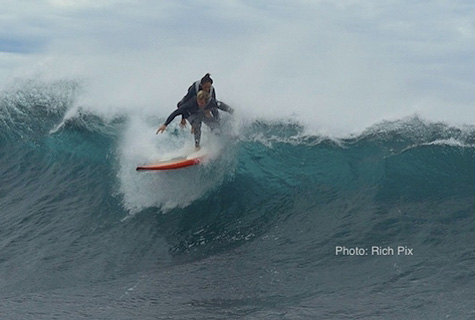 duct tape surfing, pascale honore, tyron swan, australia, port lincoln, paralyzed mom surf, tandem surfing