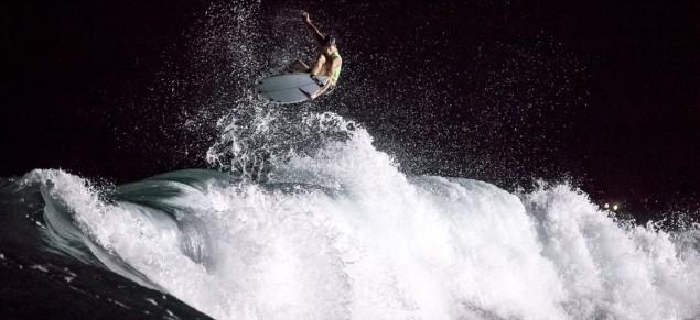 Sebastian Zietz at the Oakley Bali Pro night surf session. Photo: Hennings