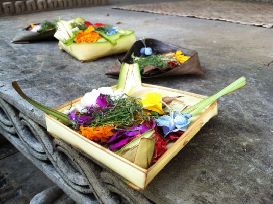Banten, a Balinese offering to the Gods.