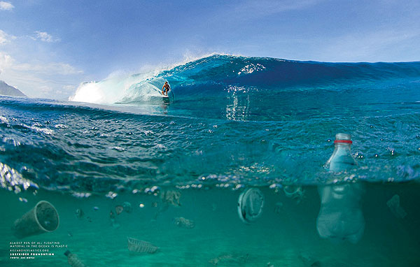 No one wants to dodge plastic in the lineup or on a wave. Recycle your waste! Photo: Zak Noyle