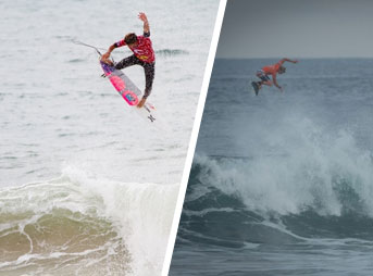 """Julian's air at the recently-finished Rip Curl Pro Portugal just might top John John's """"air heard 'round the world."""""""