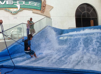 As every SoCal surfer well knows, August was sorely lacking in swell. As weeks of near flatness continued on, a few friends and I decided to try the artificial waves at the Wavehouse in San Diego. Photo: Sugar Molina