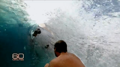 Barrel frame grab from 60 Minutes.