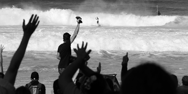 Mick Fanning making the claim that helped decide his fate. Photo: Matt Dunbar