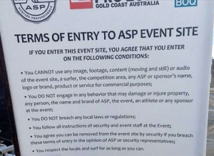 The long list of event rules.