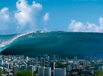 It won't look like this, but you get the idea. A lot of ocean. Photo: Sean Davey