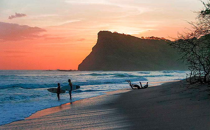 Nicaragua. That ocean is full of things to catch , whether it's waves or fish. Photo: Joanne O'Shaughnessy
