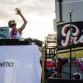 Keala Kennelly rocks The Inertia rooftop. Photo: Dan Lemaitre
