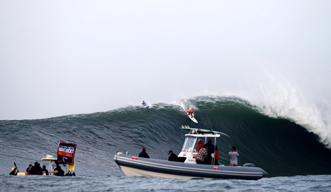 These are exactly the conditions Shane Dorian invented the vest for. Photo: Benjamin Ginsberg