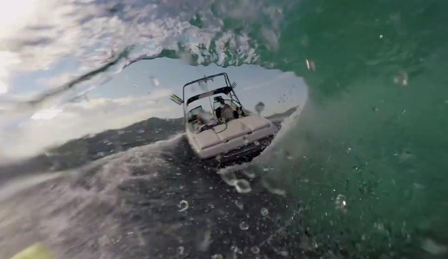 Getting Barreled Behind a Boat - Wakesurfing in Summer | The Inertia