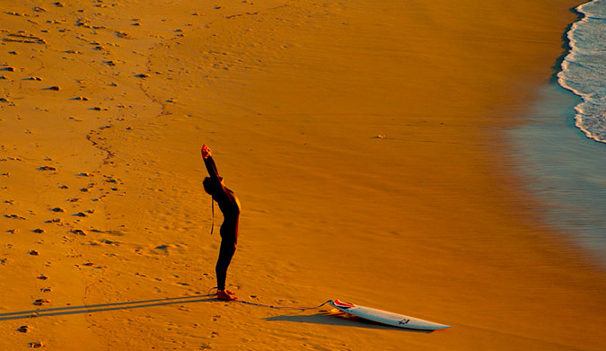 A Long Muscle is a Strong Muscle: Post-Surf Lower Body Stretching
