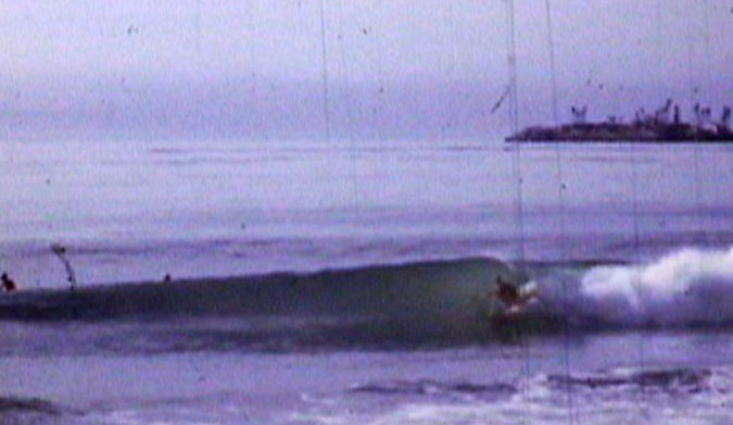 Gary Ross surfing the old Stanley's Reef in 1967, This wave doesn't exist anymore.
