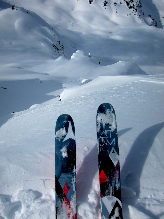 Dropping in. Whistler in 2013. The view from the top. Photo: Courtesy of Michelle Parker
