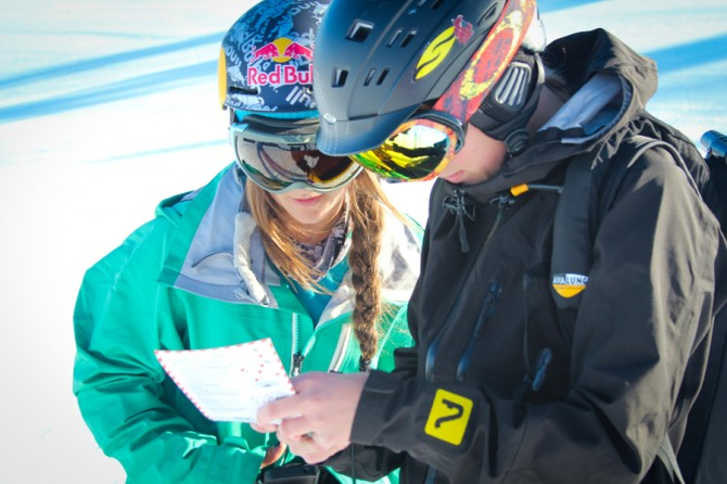A shot of teaching avalanche workshops in Squaw Valley. Photo: Courtesy of Michelle Parker