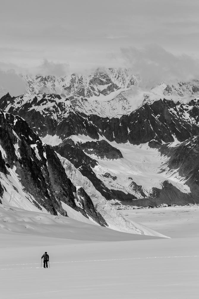No resort closing dates constrain skiing opportunities in the Alaska Range. Photo: Spencer James