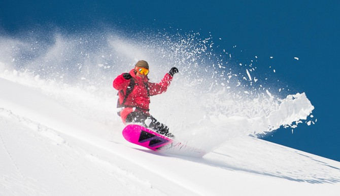 Like the community, powder doesn't care if you're a boy or girl as long as you're out there charging. Photo: Gnu