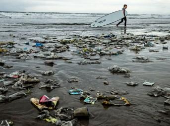 Plastic plagues our beaches.