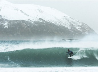 Some people are never happier than when they're miserable–cold water surfers fall in that category.