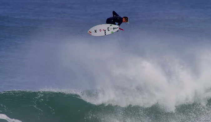 """Kolohe Andino, (you little rascal, you), snuck into what CJ Hobgood called """"the best wave ever ridden."""""""