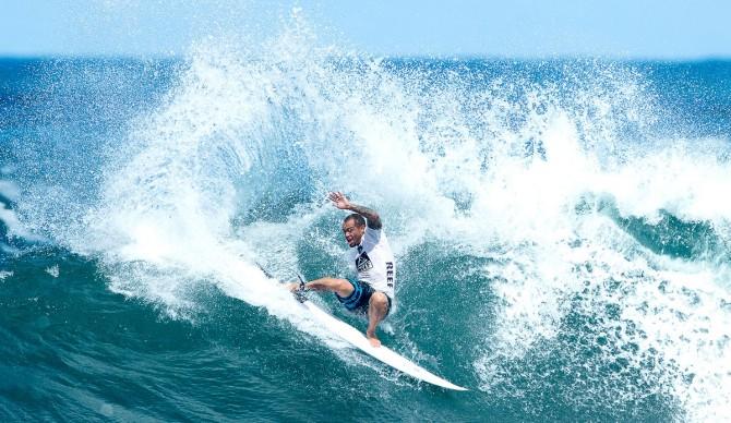 Raoni Monteiro at the Reef Hawaiian Pro.