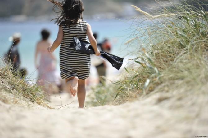 Kids love the beach at Martinhal, Portugal!