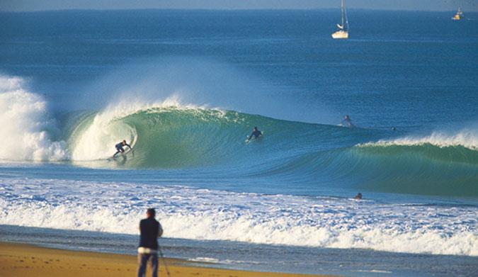 Firing beach break in Hossegor, France. Photo: Roger Sharpe
