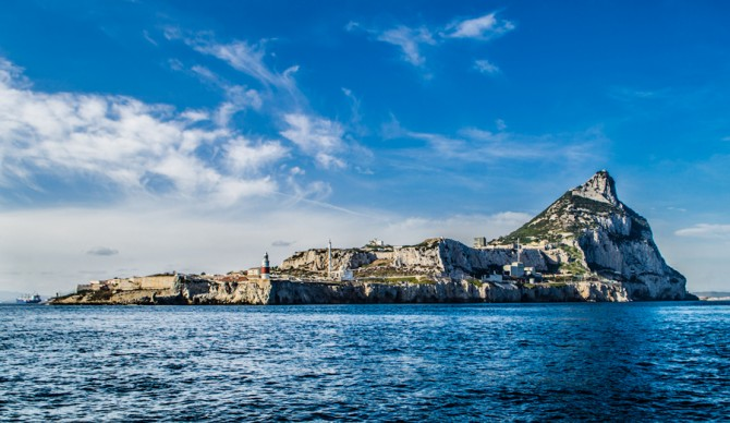 The Rock of Gibraltar seen from the southeast. Photo: John Robison IV