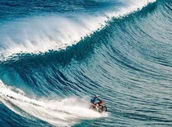 Robbie Maddison Surf Teahupoo on Motor Bike