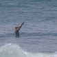 Kolohe Andino flips off the judges in round 3 of the Hurley Pro. Photo: WSL