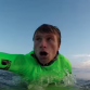 Mark Healey seconds before taking on a two wave hold down at Mavericks. Photo: YouTube