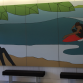 SDSU's Zura residence hall, complete with surf lockers and this mural by Andy Davis. Photo: Dr. Jess Ponting