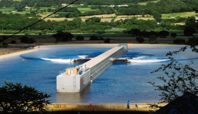 The park in Austin will leverage the same Wavegarden technology that exists at Surf Snowdonia and the Wavegarden in Spain. Photo: Surf Snowdonia