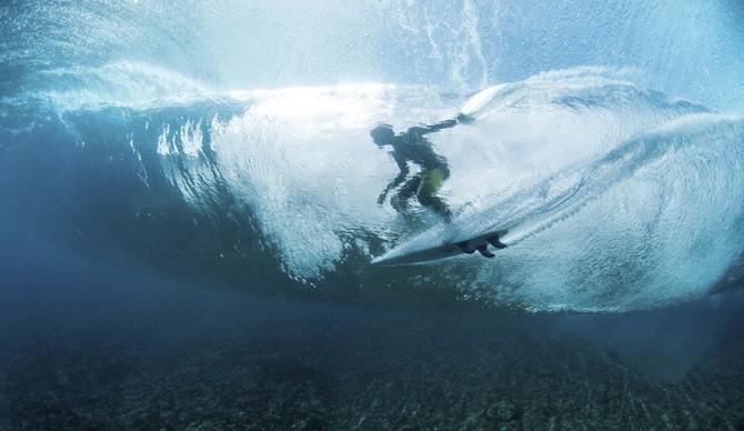 Seth Moniz surfs in Teahupoo, Tahiti, French Polynesia on August 11th, 2014