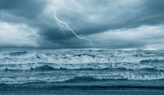 being struck by lightning