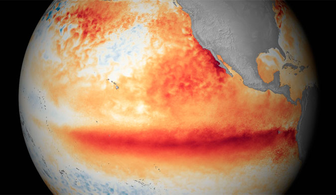 All signs point to the most powerful El Nino event ever. Image: NOAA