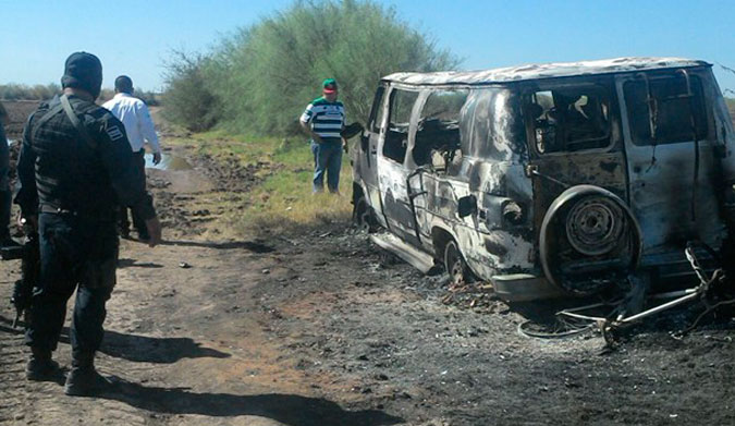 The burned van matches the van the pair of Australians were traveling in.