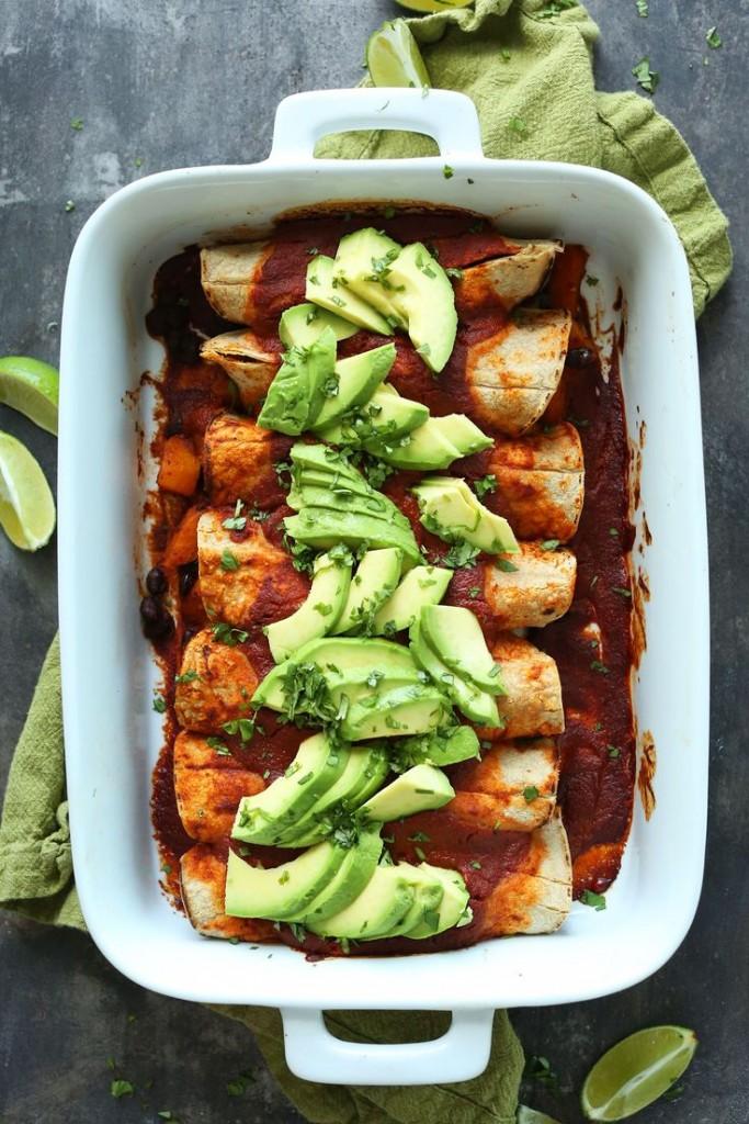 Recipe: Butternut Squash and Black Bean Enchiladas | The Inertia
