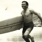 Joe Sweeney headed out for a surf at his beloved Bells Beach in the 1960s. Photo: ABC