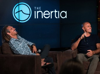 Kelly Slater and Rob Machado Discuss their high five and more.