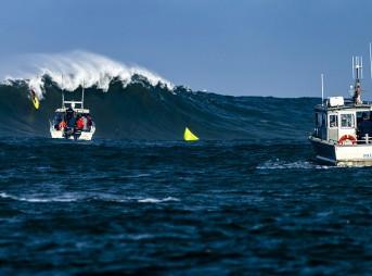 Titans of Mavericks big wave surf contest at Half Moon Bay, CA on February 12, 2016.