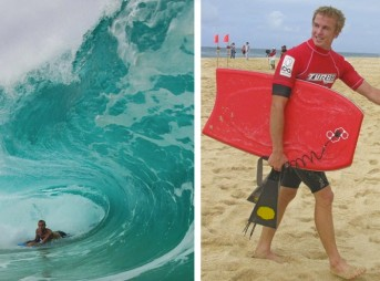 There's more than one way to skin a cat. Jamie O'Brien exploring other methods of getting ridiculously tubed.
