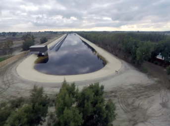 Not a drone, not a plane, but a kite. Kelly Slater's Wave Pool seen from above. Photo: Keith Plocek