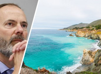 Lester wanted to protect California's coastline. Do the rest of the appointees on the California Coastal Commission feel the same way? Photos, L-R: LA Times/Shutterstock
