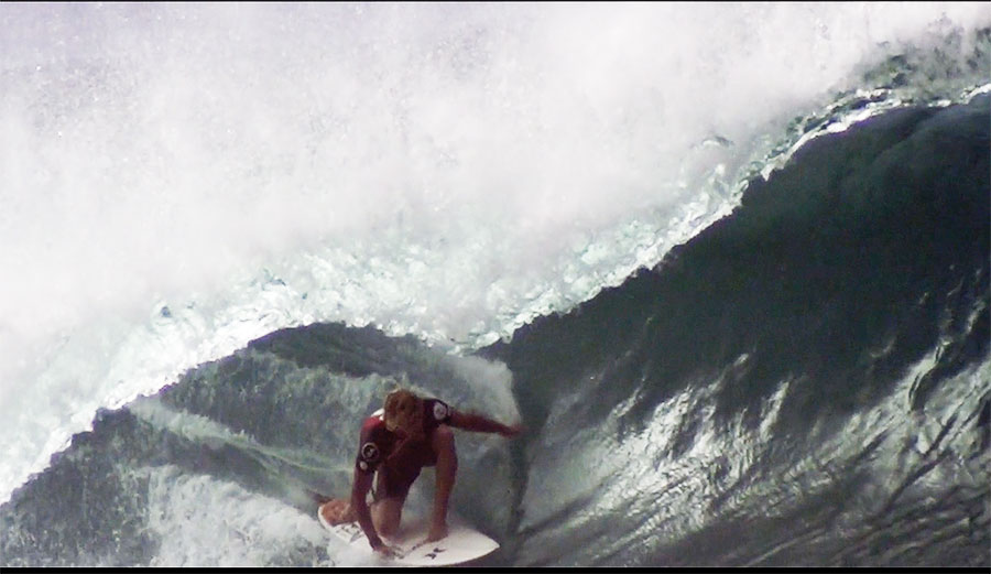 Kelly Slater, John John Florence, and Bruce Irons at Pipeline in Super (SUPER) Slow-Motion